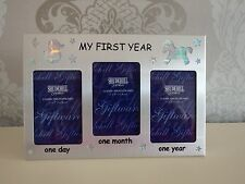 My first year photo frame triple one day one month one year baby shower gift