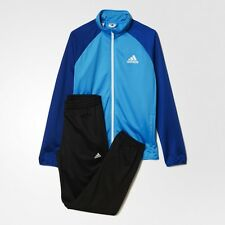 adidas boys blue / black entry tracksuit. Jogging suit. Warm up suit. Age 4-14Y