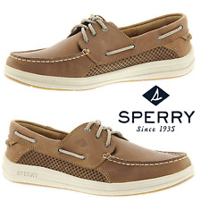 Sperry Top-Sider Gamefish 3 Eye Men's Loafers Casual Shoes Premium Leather NWB