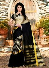 Indian bollywood designer cotton silk ethnic party ware sari(TZ_Arun)