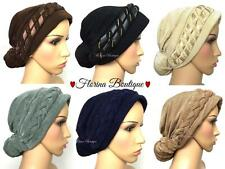 ��Fashionable Turban hats Hijab, pretty bonnet cap plain chemo ��