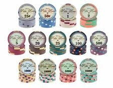 VALENTINO POKER CHIPS CERAMIC CASINO SUNFLY CASH TOURNAMENT