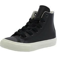 Converse Chuck Taylor All Star II Junior Noir En Cuir Formateurs Chaussures