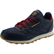 Reebok Classic Leather DG Youth Blu Marino In Pelle Formatori Scarpe