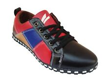 Morocco Men's Multicolor Stylish Casual Shoes , Very Comfortable (2179-Blk-Red)