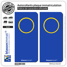 2 Stickers autocollant plaque immatriculation : Incognito - Italien