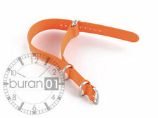 Bracelets De Montre uhrband-militär nylon ZOULOU bande orange extra fort 24mm