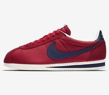 NIKE CORTEZ AW NYLON TRAINERS - RED/BLUE/SAIL - 844855 640 - UK 7, 8, 10, 11, 12