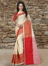 Indian bollywood  designer cotton silk saree ethnic party ware sari(TZ_padhma)
