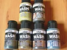 Vallejo Model Wash Various Colours ,Khaki,Olive Green,European Dust and Others