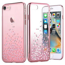 COMMA Polka Series Authorized Swarovski Crystal Decor Plated PC Case for iPhone7