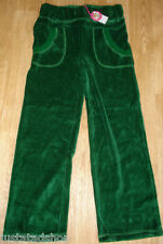 Nolita Pocket girl velour trousers joggers pants  5-6 y  BNWT green
