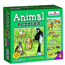 Creativo Numero Educational 4 Animal Puzzle (25 pezzi) (w9D)