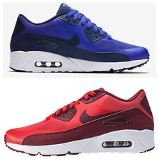 Mens Nike Air Max 90 ultra 2.0 Essential Trainers red+blue-Size UK 6.5