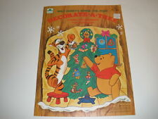 UNUSED NEW Disney Winnie The Pooh Christmas  Press out Book -  COMPLETE