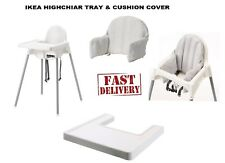 IKEA ANTILOP  HIGHCHAIR WITH SAFETY STRAPS & MATCHING TRAY & Cushion Cover NEW