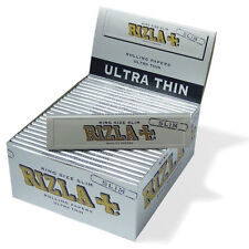 RIZLA PLATA Tamaño King Cigarrillo Papeles de liar 110mm Roll Your Own