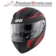 Helmet moto Givi 405 40.5 X-Carbon black rouge integral casque casque