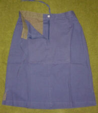 LADIES FRONT ROW 100% COTTON NAVY CANVAS SKIRT - S/10