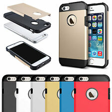 Slim Armor Shock Proof Hard Tough Strong Hybrid Case Cover for Apple iPhone 4 4S