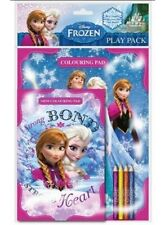 DISNEY FROZEN COLOURING PLAY PACK - WITH OVER 30 COLOURING PAGES AND A PACK OF 4