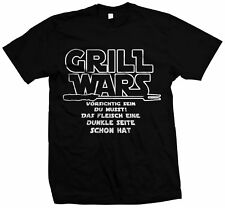 Grill Wars - Grillen Barbeque Shirt BBQ Grillen Holzkohle Gasgrill
