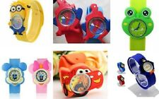 Batman Kids Cartoon Watch 3D Strap Slap Wrist Kids Children Quartz Silicone Band