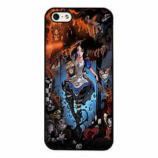 Alice In Wonderland Amazing Dark Disney PHONE CASE COVER fits iPHONE 4 5 6 7+