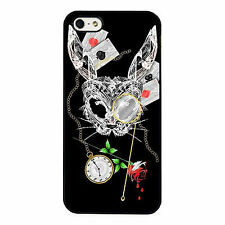 Alice In Wonderland Dark Art White Rabbit PHONE CASE COVER fits iPHONE 4 5 6 7+