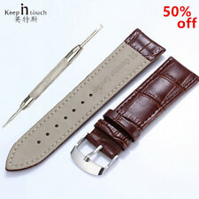 Hight Quality 20Mm Watch Band Leather 22Mm Men Women Brown Waterproof Watch Stra
