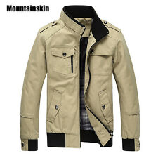 Mountainskin Casual Men'S Jacket Spring Army Military Jacket Men Coats Winter Ma