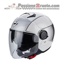 Casque jet moto scooter Scorpion Exo City Wind blanc noir