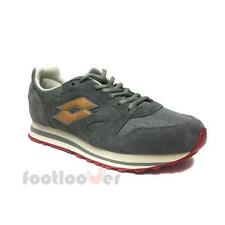 Scarpe Lotto Trainer IX NY S7844 Uomo Sneakers Sport Grey Cement Brown Tof