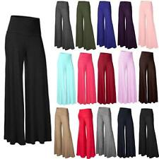 Sexy Damen OL Mode Stretch Hohe Taille Weites Bein Lange Hose Palazzo Hose