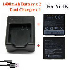 Xiaomi Yi 4K 1400Mah 2 Pcs Battery + Xiao Yi 2 Dual Battery Charger For Original