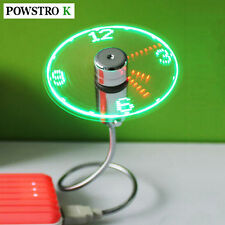 Creative Adjustable Mini Usb Fans With Led Time Led Clock Fan Led Light Display1