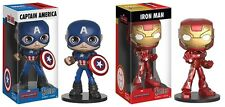 Captain America Iron Man Wacky Wobblers Funko Vinyl Figures New Marvel Comics