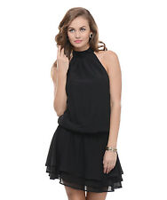 Moderno Women's Black Evening Party Dress (MOD 119)