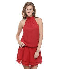 Moderno Women's Red Evening Party Dress (MOD 120)