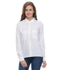 Moderno Women's White  Casual Women Shirt (MOD111)