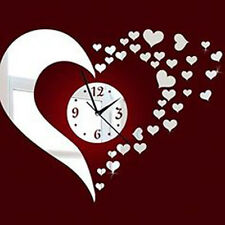 3D DIY Multi color Hearts Wall Clock & Wall Sticker-Laser Craft Store -A1029