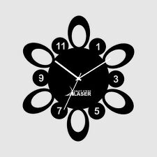 Atomic Number Abstract Designer Wall Clock -LaserCraftStore-A1014 Multi color