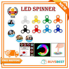 LED Light Flash Fidget Hand Finger Spinner Ultimate Spin Toys UK SELLER