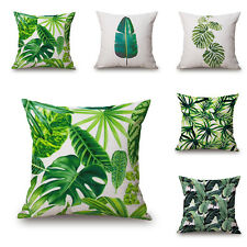 New Green Tropical Plant Tree Leaves Pillow Cover Fresh Throw Pillow Case Home e