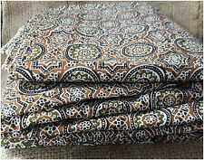 100% pure cotton hand block printed jaipuri summer brown fabric dress material