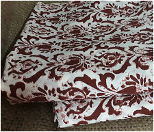 100% pure cotton hand block printed jaipuri summer fabric maroon dress material