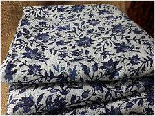 100% pure cotton hand block printed jaipuri summer blue fabric dress material