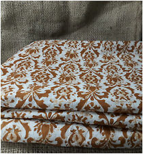 100% pure cotton hand block printed jaipuri brown summer fabric dress material