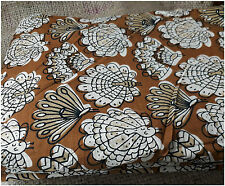 100% pure cotton hand block printed jaipuri peacock summer fabric dress material