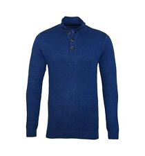 Tom Tailor Sweater Pullover Modern Plated Troyer 3021326 0910 6803 blau S17-TTJ1